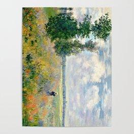 Poppy Fields near Argenteuil by Claude Monet Poster