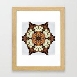 Moth and Flower Mandala Framed Art Print
