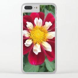 Mary Evelyn Dahlia Clear iPhone Case