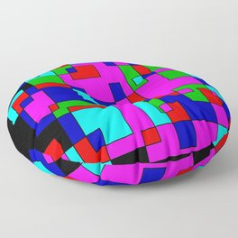 rectangles on black -a- Floor Pillow