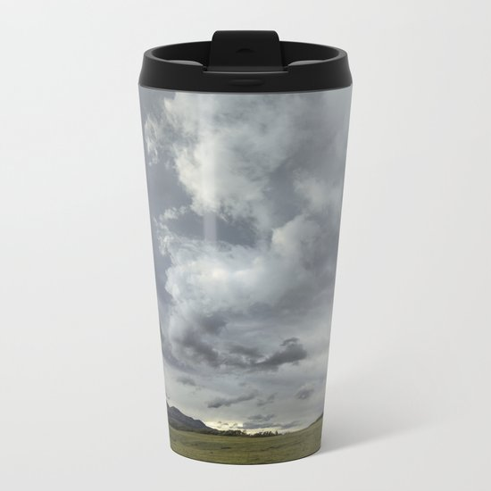 Landscape Photography | Waterton, Alberta | Clouds | Sunset Metal Travel Mug