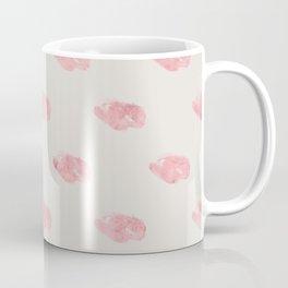 Pink Marble & Oatmeal Background Coffee Mug