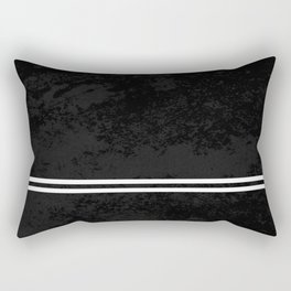 Infinite Road - Black And White Abstract Rectangular Pillow