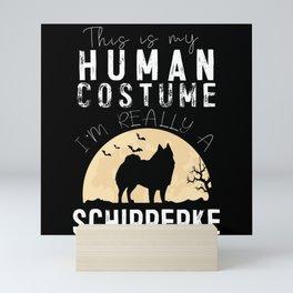 Halloween Human Costume Schipperke Creepy Mini Art Print