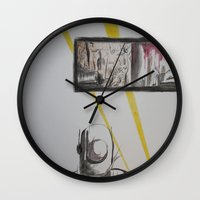 clockwork Wall Clocks featuring Clockwork by MassiveTrain