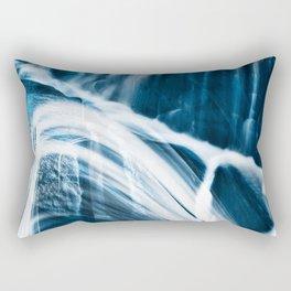 Blue Banshee Falls Rectangular Pillow