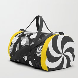 Black and White Sugar Crush Duffle Bag