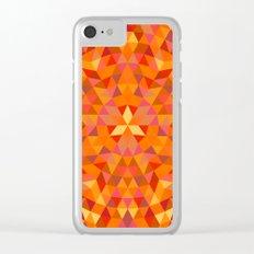 Triangle Sun Mandala Clear iPhone Case