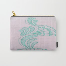 Turquoise Flower Carry-All Pouch