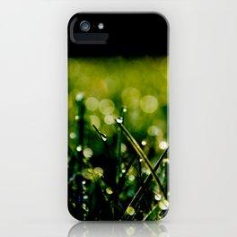 Dew Laden Grass 3 iPhone Case