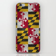 State flag of Flag of Maryland, Vintage retro style iPhone & iPod Skin