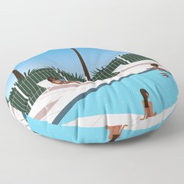 at the pool Floor Pillow