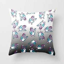 Corgi in Watercolor Splash Throw Pillow