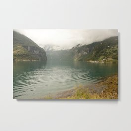 a view at a lake in Norway  | nature photo | fine art photo print | travel photography Metal Print