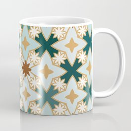 Blue Lotus Star Tile Coffee Mug