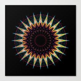 Futuristic Zen Mandala Canvas Print