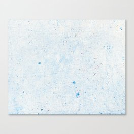 Blue Splatter Paint (Color) Canvas Print