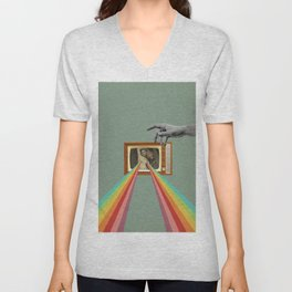 Tits on TV Unisex V-Neck
