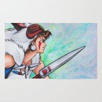 mononoke Area & Throw Rugs featuring Mononoke by Kimberly Castello