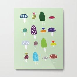 Mushrooms & Happiness Metal Print