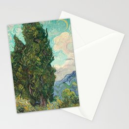 Cypresses by Vincent van Gogh Stationery Cards