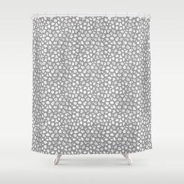 Crayon Rocks 09   Grey & White Shower Curtain