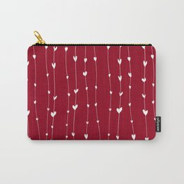 Handwriting Hearts V Carry-All Pouch