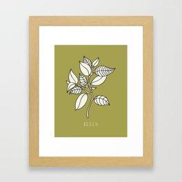 Beech Leaf Framed Art Print
