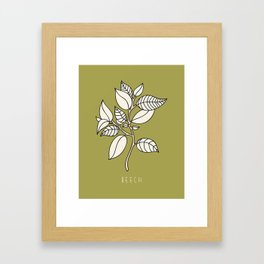Beech Leaf Framed Art Print