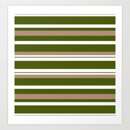 Classic-Beige-Black-Green-White Collection Art Print