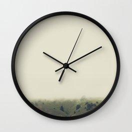 rolling hazy | mill valley, california Wall Clock