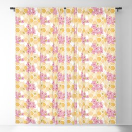Cherry Blossom Bees Blackout Curtain