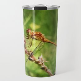 Meadowhawk Dragonfly Travel Mug