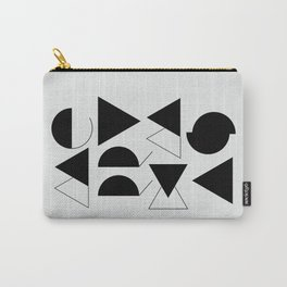 Merry Xmas - Geometric Typo Carry-All Pouch