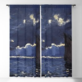 A Seascape, Shipping by Moonlight by Claude Monet (1864) Blackout Curtain