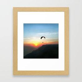 Sunset Paraglide Framed Art Print