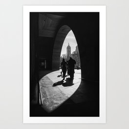 Into the light. (Melbourne, 2013) Art Print