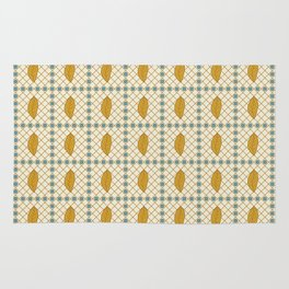 African abstract seamless pattern with different elements Rug