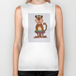 monkey in tutu Biker Tank