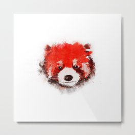 Red Panda (White) Metal Print