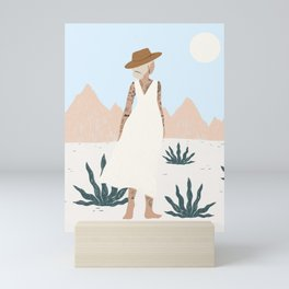 white sands Mini Art Print