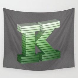 Letter K Wall Tapestry