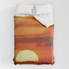 Sunset at Devil's Dyke (UK) Comforters