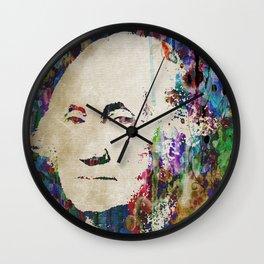 George Washington Art Watercolor HUGE PRINT POSTER Wall Clock