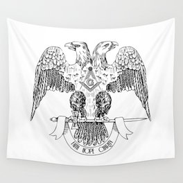 Two-headed eagle as Masonic symbol Wall Tapestry