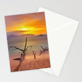 time painted Stationery Cards