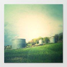 Farm land drive by Canvas Print