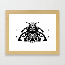Moustached Knight Framed Art Print