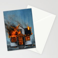 House on Fire Stationery Cards