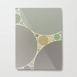 tamara - soft neutral earth tones abstract dots design Metal Print